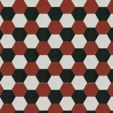 Terrazzo Sechseck rot